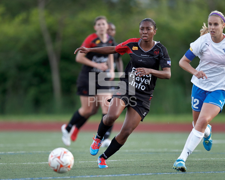 FC Indiana forward Sophia Batard (11). In a Women's Premier Soccer League Elite (WPSL) match, the Boston Breakers defeated FC Indiana, 4-1, at Dilboy Stadium on May 18, 2012.