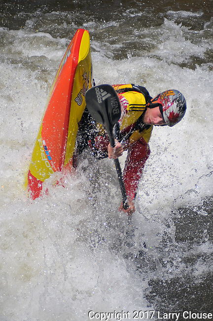 June 9, 2017 - Vail, Colorado, U.S. - Canada's, Nick Troutman, in action on Gore Creek in the Freestyle Kayak competition during the GoPro Mountain Games, Vail, Colorado.  Adventure athletes from around the world meet in Vail, Colorado, June 8-11, for America's largest celebration of mountain sports, music, and lifestyle.