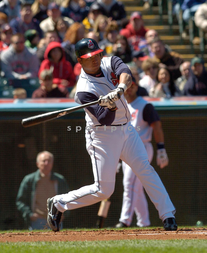 Jhonny Peralta of the Cleveland Indians, in action against the Twins on April 9, 2006...Indians win 3-2..David Durochik / SportPics