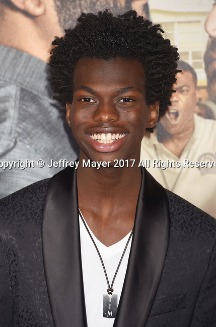 HOLLYWOOD, CA - FEBRUARY 13: Actor Tim Johnson Jr. attends the premiere of Warner Bros. Pictures' 'Fist Fight' at the Regency Village Theatre on February 13, 2017 in Westwood, California.