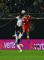 Jonathan Tah (Deutschland Germany) gegen Aleksandr Erokhin (Russland, Russia) - 15.11.2018: Deutschland vs. Russland, Red Bull Arena Leipzig, Freundschaftsspiel DISCLAIMER: DFB regulations prohibit any use of photographs as image sequences and/or quasi-video.
