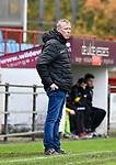 2017-11-05 / voetbal / seizoen 2017-2018 / VC Herentals - Hoeilaart / Coach Jozef Dufraing (VC Herentals) kijkt sip omdat zijn ploeg op achterstand staat