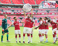 Arsenal's Olivier Giroud celebrating after the The FA Community Shield Final match between Arsenal and Chelsea at Wembley Stadium, London, England on 6 August 2017. Photo by Andrew Aleksiejczuk / PRiME Media Images.