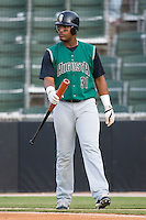 Angel Villalona (31) of the Augusta GreenJackets walks to the plate for his turn at bat at Fieldcrest Cannon Stadium in Kannapolis, NC, Friday August 22, 2008. (Photo by Brian Westerholt / Four Seam Images)