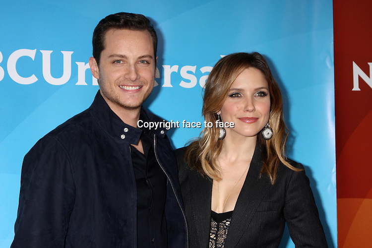 PASADENA, CA - January 19: Jesse Lee Soffer, Sophia Bush at the NBC-Universal 2014 TCA Winter Press Tour, Langham Huntington Hotel and Spa, Pasadena, January 19, 2014.<br />