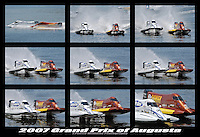 Glyn Matthews and Bill Rucker race for the lead in SST-120..Champ Boat Series Grand Prix of Augusta, Augusta, GA USA  May, 2007 ©F. Peirce Williams 2007  SST-120/F2..F. Peirce Williams .photography.P.O.Box 455 Eaton, OH 45320 USA.p: 317.358.7326  e: fpwp@mac.com..