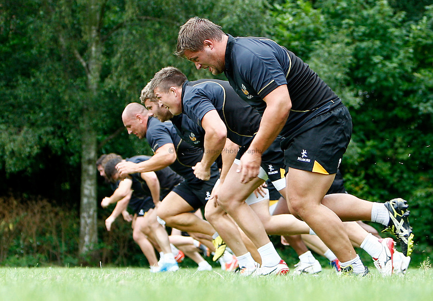 Photo: Richard Lane/Richard Lane Photography. Wasps Pre Season Training. 08/07/2014. Wasps training.