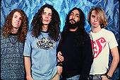 NEW YORK CITY, NY NOVEMBER 06: Jason Everman, Chris Cornell, Kim Thayil and Matt Cameron of Soundgarden pose during a photo session in studio on November 6, 1989 in New York City. photo by Larry Marano © 1989