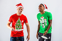 Wednesday 02 November 2016<br /> Pictured L-R: Stephen Kingsley and Leroy Fer<br /> Re: Swansea City Christmas Photo shoot, Liberty Stadium, Wales, UK
