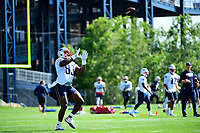 July 28, 2017: New England Patriots tight end Dwayne Allen (83) makes a catch at the New England Patriots training camp held at Gillette Stadium, in Foxborough, Massachusetts. Eric Canha/CSM