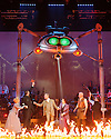 London, UK. 12.02.2016. Jeff Wayne's Musical Version of the War of the Worlds opens at the Dominion Theatre. Picture shows: Heidi Range (Beth), Jimmy Nail (Parson Nathaniel), Michael Praed (George Herbert), Madalena Alberto (Carrie), David Essex (The Voice of Humanity), Daniel Bedingfield (The Artilleryman). Photograph © Jane Hobson.