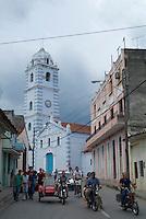 The Iglesia Parroquial Mayor del Espiritu Santo, one of Cuba's oldest churches, in the historical centre of Sancti Spiritus, Cuba.