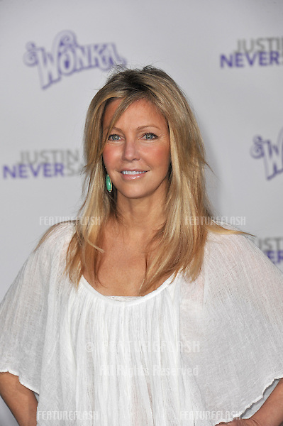"Heather Locklear at the Los Angeles premiere of ""Justin Bieber: Never Say Never"" at the Nokia Theatre LA Live..February 8, 2011  Los Angeles, CA.Picture: Paul Smith / Featureflash"