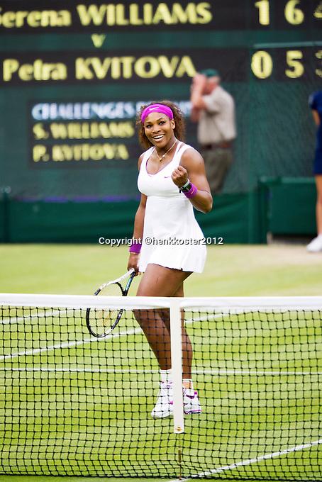 03-07-12, England, London, Tennis , Wimbledon,  Serena Wiliams