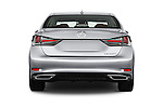Straight rear view of 2016 Lexus GS 200t 4 Door Sedan Rear View  stock images