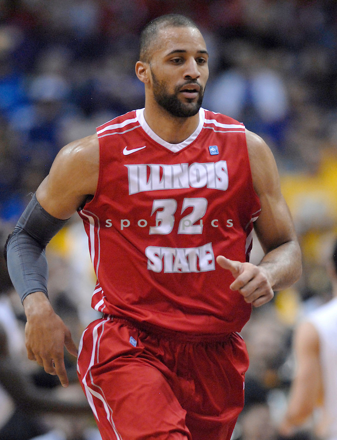 Illinois State Redbirds Jackie Carmichael (32) during a game against the Wichita State Shockers on Saturday March 9, 2013 at the Scottrade Center in St. Louis, Missouri. Wichita State beat Illinois State 66-51.