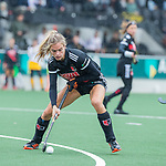 AMSTELVEEN - Lina van Drunen (Adam)   tijdens de hoofdklasse hockeywedstrijd dames,  Amsterdam-Den Bosch (1-1).   COPYRIGHT KOEN SUYK