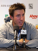 11-02-13, Tennis, Rotterdam, ABNAMROWTT,  Igor Sijsling   Press confence