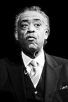 Rev. Al Sharpton pauses for a moment to think.