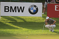 Bernd Wiesberger (AUT) on the 16th green during the 1st round of the DP World Tour Championship, Jumeirah Golf Estates, Dubai, United Arab Emirates. 21/11/2019<br /> Picture: Golffile | Fran Caffrey<br /> <br /> <br /> All photo usage must carry mandatory copyright credit (© Golffile | Fran Caffrey)