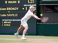 LUKE SAVILLE (AUS) (16) against LIAM BROADY (GBR) (15) in the Final of the Boy's Singles. Luke Saville beat Liam Broady 2-6 6-4 6-2..Tennis - Grand Slam - Wimbledon - AELTC - London- Day 12 - Sat July 2nd 2011..© AMN Images, Barry House, 20-22 Worple Road, London, SW19 4DH, UK..+44 208 947 0100.www.amnimages.photoshelter.com.www.advantagemedianetwork.com.