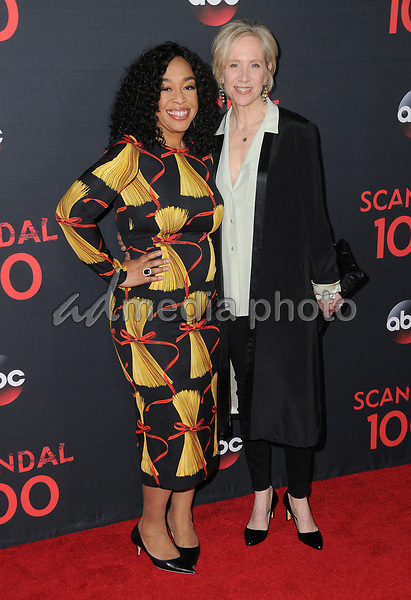 08 April 2017 - West Hollywood, California - Shonda Rhimes, Betsy Beers. ABC's 'Scandal' 100th Episode Celebration held at Fig & Olive in West Hollywood. Photo Credit: Birdie Thompson/AdMedia