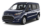 2015 Ford Grand Tourneo Connect Titanium 5 Door Minimpv Angular Front stock photos of front three quarter view