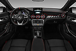Stock photo of straight dashboard view of a 2019 Mercedes Benz GLA AMG 45 5 Door SUV