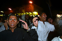 Shiite Muslims beating their chests, chant Muslim Shiite slogans in the resting place of Imam Ali, son-in-law of the Prophet Mohammed, in the holy city of Najaf Wednesday April, 30, 2003, for a pilgrimage that Saddam Hussein ( had repressed for decades. The pilgrimage to Najaf marks the deaths of the Prophet Mohammed and the Shiite Saint Jaafar Sadeq. The world's 120 million Shiites regard Najaf as their third-holiest site, behind Mecca and Medina.