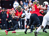 College Park, MD - NOV 11, 2017: Maryland Terrapins running back Lorenzo Harrison III (2) runs the football during game between Maryland and Penn State at Capital One Field at Maryland Stadium in College Park, MD. (Photo by Phil Peters/Media Images International)