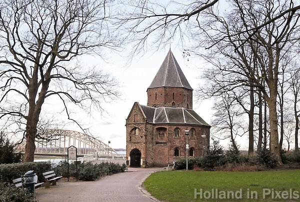 Nederland Nijmegen 2016 02 25.  Sint-Nicolaaskapel in het Valkhofpark.  Foto Berlinda van Dam / Hollandse Hoogte