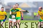 Barry John Keane Kerry in action against Neil Gallagher Donegal in Division One of the National Football League at Austin Stack Park Tralee on Sunday.