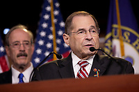 House Judiciary Committee Chairman Jerrold Nadler (D-New York), attends a press conference on Capitol Hill in Washington D.C., U.S. on June 11, 2019.  The press conference followed a House vote, where lawmakers passed a bill which allows the House Judiciary Committee to call on Federal judges to enforce Congressional subpoenas. Photo Credit: Stefani Reynolds/CNP/AdMedia