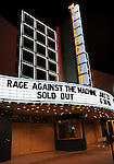 The Marquee at Rage Against The Machine's 1st L.A. concert in nearly 10 years to a sold out crowd, the concert is a benefit to help Arizona Organizations fight SB1070 . The show was held at The Hollywood Palladium in Hollywood, California on July 23,2010                                                                   Copyright 2010  DVS / RockinExposures