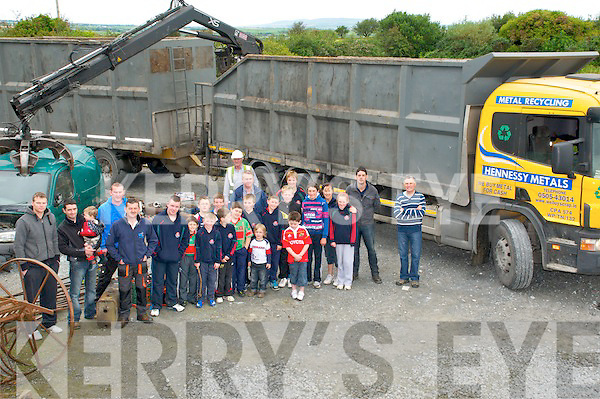 Scrap for Cash : Pictured at the collection of Scrap for Cash in aid of Crotta O'Neill's GAA club on Staurday morning last in Kilflynn.