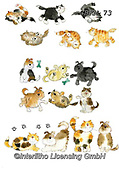 Kate, CUTE ANIMALS, LUSTIGE TIERE, ANIMALITOS DIVERTIDOS, paintings+++++Cats & Dogs page 21,GBKM73,#ac#, EVERYDAY ,cat,cats