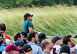 CROMWELL, CT. 20 June 2019-062019 - PGA Tour player Phil Mickelson watches his tee shot on the par 4 third hole, during the first round of the Travelers Championship at TPC River Highlands in Cromwell on Thursday. Bill Shettle Republican-American