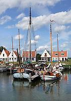 Nederland Durgerdam 2019. Dijkhuizen in Durgerdam.  Boten in de haven. Foto Berlinda van Dam / Hollandse Hoogte