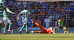 12.05.2019 Rangers v Celtic: Wes Foderingham saves from Oli Burke
