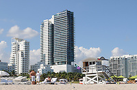 Basking in elegance and afternoon sun at beautiful South Beach, Miami Beach Florida.