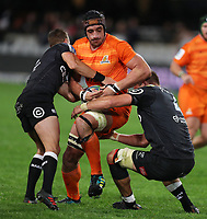 DURBAN, SOUTH AFRICA - JULY 14: Tomas Lavanini of the Jaguares during the Super Rugby match between Cell C Sharks and Jaguares at Jonsson Kings Park on July 14, 2018 in Durban, South Africa. Photo: Steve Haag / stevehaagsports.com