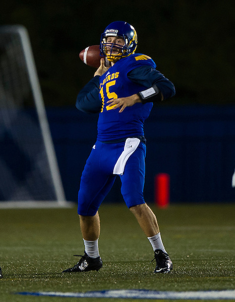 VANCOUVER,BC:SEPTEMBER 3, 2016 -- UBC Thunderbirds University of Alberta Golden Bears during CIS Canada West football action at UBC in Vancouver, BC, September, 3, 2016. (Rich Lam/UBC Athletics Photo) <br />