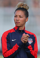 Boyds, MD - Saturday July 09, 2016: Estelle Johnson prior to a regular season National Women's Soccer League (NWSL) match between the Washington Spirit and the Chicago Red Stars at Maureen Hendricks Field, Maryland SoccerPlex.