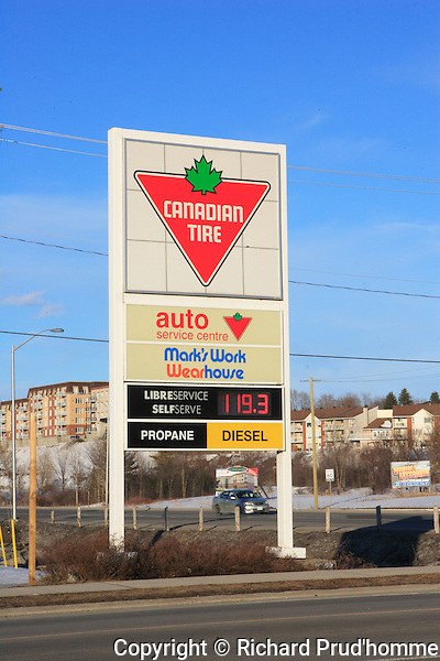Gas prices in Ontario