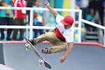Kensuke Sasaoka (JPN), <br /> AUGUST 29, 2018 - Skateboarding : <br /> Men's Park Final<br /> at Jakabaring Sport Center Skatepark <br /> during the 2018 Jakarta Palembang Asian Games <br /> in Palembang, Indonesia. <br /> (Photo by Yohei Osada/AFLO SPORT)