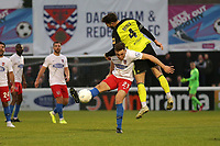 Ben House of Dagenham and Redbridge and Dean Rance of Aldershot Town during Dagenham & Redbridge vs Aldershot Town, Vanarama National League Football at the Chigwell Construction Stadium on 16th November 2019
