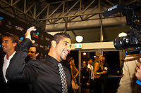 GOLD COAST, Queensland/Australia (Friday, February 24, 2012) Heitor Alves (BRA).  The 29th Annual ASP World Surfing Awards went off tonight at the Gold Coast Convention and Exhibition Centre with the worlds best surfers trading the beachwear for formal attire as the 2011 ASP World Champions were officially crowned.. .Kelly Slater (USA), 40, and Carissa Moore (HAW), 19, took top honours for the evening, collecting the ASP World Title and ASP Womens World Title respectively.. .I have actually been on tour longer than some of my fellow competitors have been alive, Slater said. All joking aside, its truly humbling to be up here and honoured in front of such an incredible collection of surfers. I want to thank everyone in the room for pushing me to where I am...In addition to honouring the 2011 ASP World Champions, the ASP World Surfing Awards included new accolades voted on by the fans and the surfers themselves...For the first time in several years, ASP Life Membership was awarded to Hawaiian legend and icon of high-performance surfing, Larry Bertlemann (HAW), 56...Where surfing is today is where I dreamed it should be in the 70s, Bertlemann said. You guys absolutely deserve this and Im so honored to be up here in front of you all tonight..Grammy Award-winning artists Wolfmother and The Vernons rounded out the nights entertainment which was all streamed LIVE around the world on YouTube.com..Photo: joliphotos.com