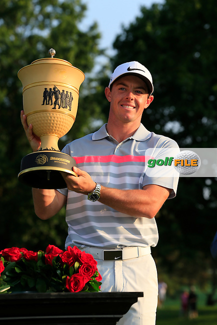Rory MCILROY (NIR) wins the tournament by 2 shots at the end of Sunday's Final Round of the WGC Bridgestone Invitational, held at the Firestone Country Club, Akron, Ohio.: Picture Eoin Clarke, www.golffile.ie: 3rd August 2014