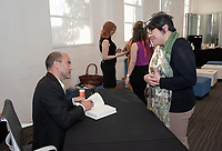 Occidental College hosts the second speaker of the Obama Scholars Program Speaker Series, Ben Rhodes, former deputy national security advisor to President Barack Obama '83 on April 18, 2019 in Choi Auditorium. Rhodes signed copies new memoir, The World As It Is, after his talk.<br /> Ben Rhodes served as deputy national security advisor to President Barack Obama for eight years, overseeing the administration's national security communications, public diplomacy, global engagement programming and speechwriting. Prior to joining the Obama administration, Rhodes served as a senior speechwriter and foreign policy advisor to the Obama campaign. Before joining then–Senator Obama's campaign, he worked for former Rep. Lee Hamilton from 2002 to 2007. He was the co-author, with Thomas Kean and Lee Hamilton, of Without Precedent: The Inside Story of the 9/11 Commission. A native New Yorker, Rhodes has a BA from Rice University and an MFA from New York University.<br /> (Photo by Marc Campos, Occidental College Photographer)