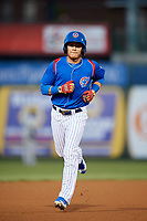 South Bend Cubs designated hitter D.J. Wilson (2) runs the bases during a game against the Clinton LumberKings on May 5, 2017 at Four Winds Field in South Bend, Indiana.  South Bend defeated Clinton 7-6 in nineteen innings.  (Mike Janes/Four Seam Images)
